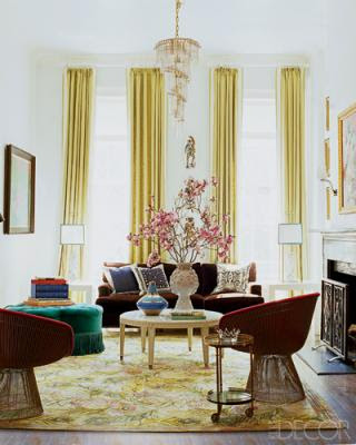 Nanette Lepore's living room, living room, interior design, home interior