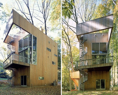 Tree House Design - wooden house, modern house design, modern tropical