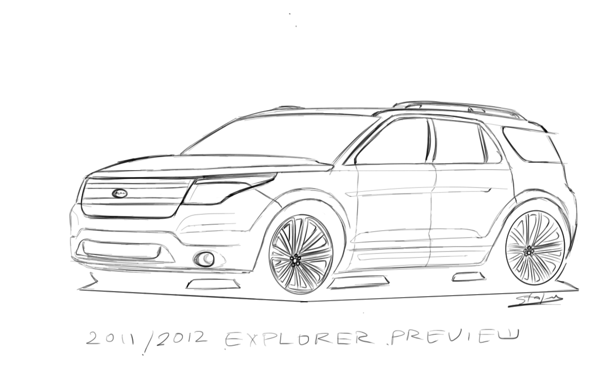 ford explorer line drawings