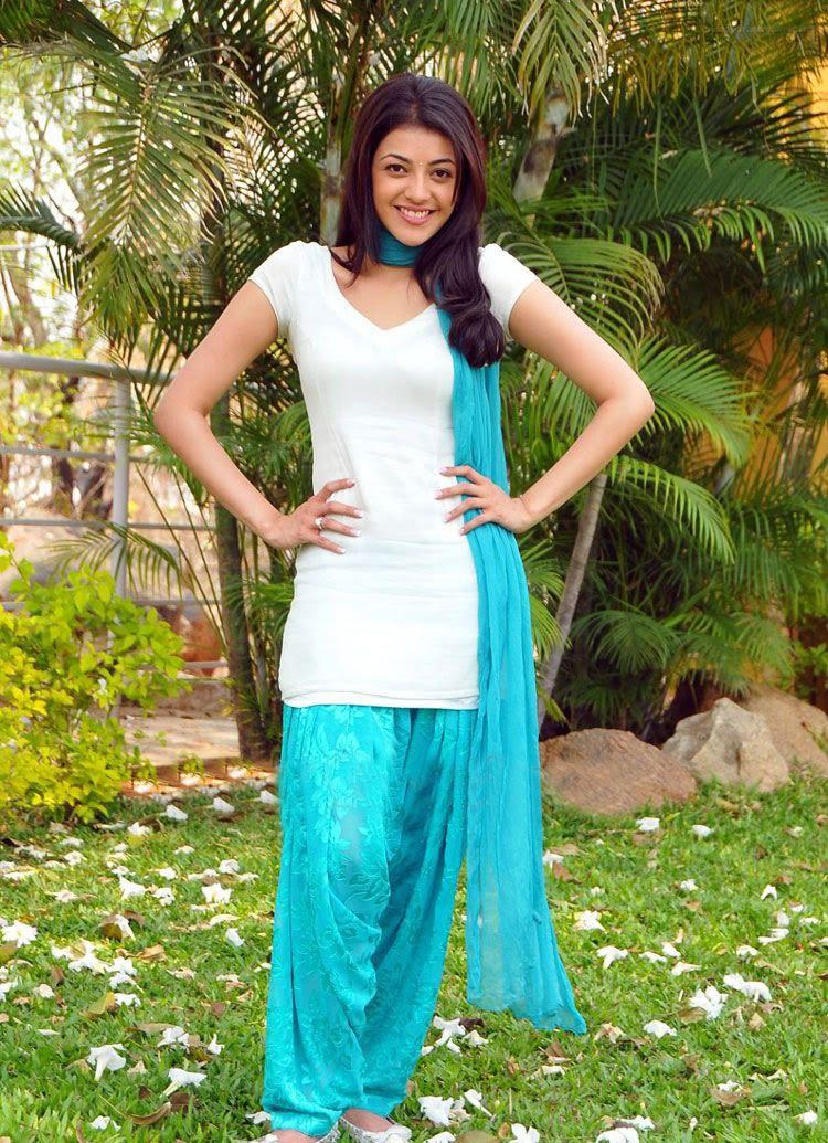 Actress Kajal in blue ...
