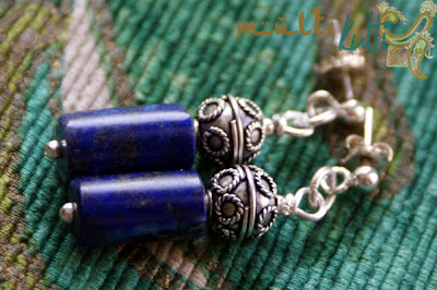 kolczyki lapis lazuli