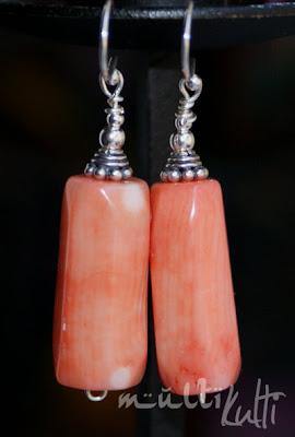 kolczyki koral różowy