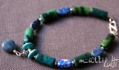 bransoletka z sercem lapis lazuli