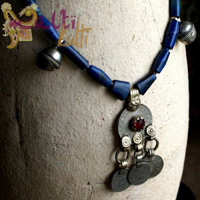 lapis lazuli wisior beduiński