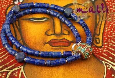 naszyjnik męski lapis lazuli