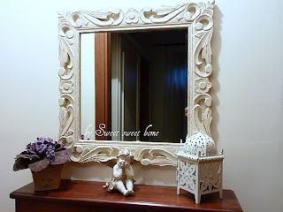 Sweet sweet home specchio shabby - Mercatone uno specchi bagno ...
