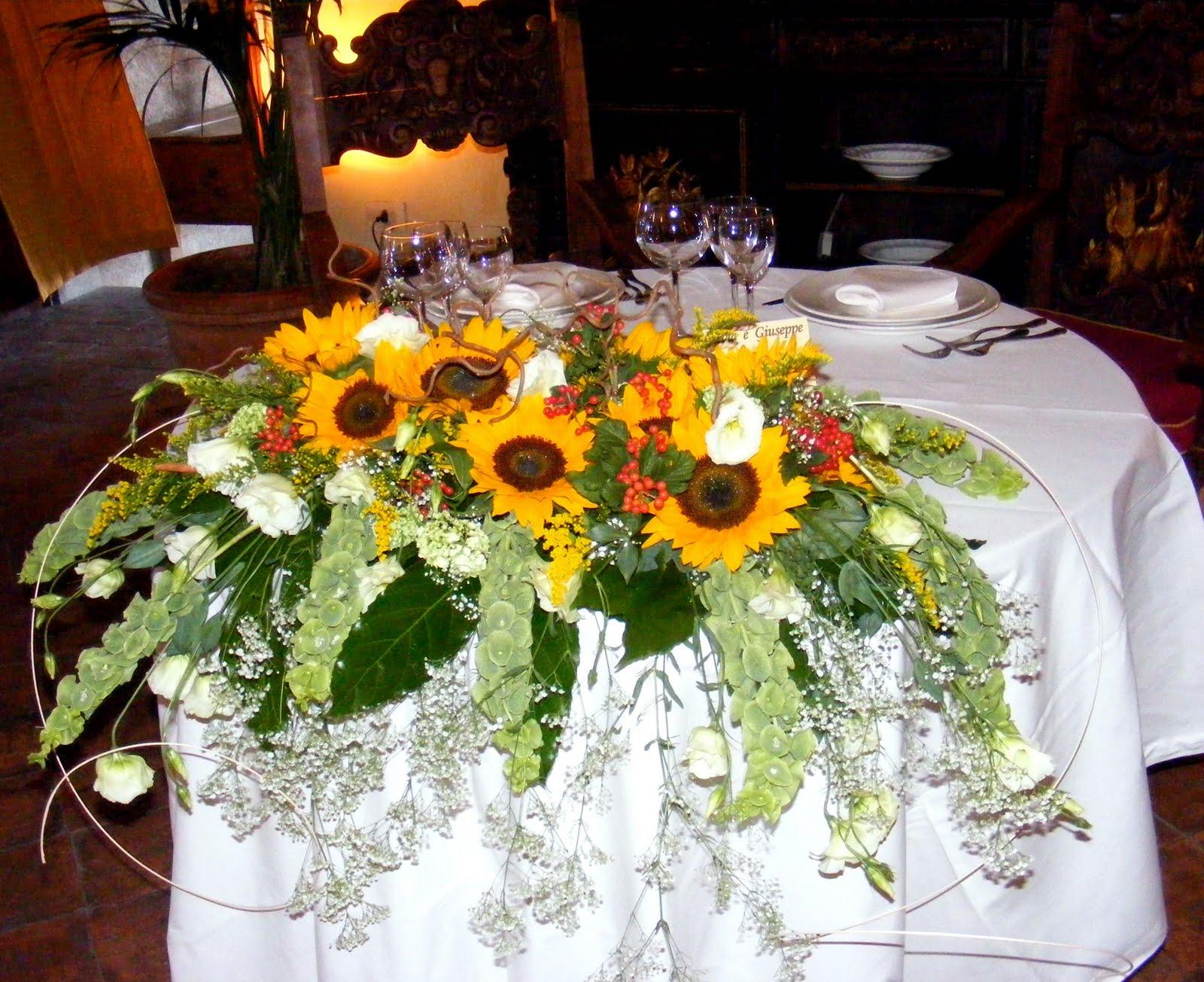 Tavoli Matrimonio Girasoli : Sweet home girasoli