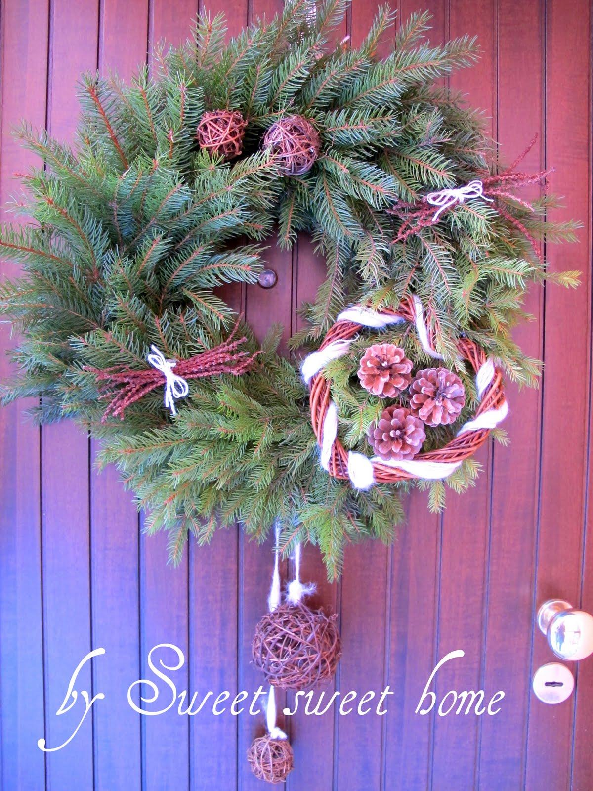 Sweet sweet home le mie decorazioni natalizie for Decorazioni porta ingresso