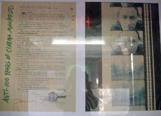 Original mecanografiado por Jonas Mekas, expuesto en el Anthology Film Archives. c. M. Savirón.