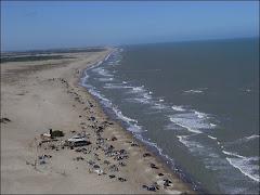 Playa al norte de Pinamar