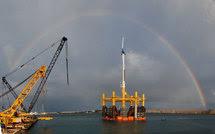Nueva tecnología permite turbinas eólicas en mar abierto