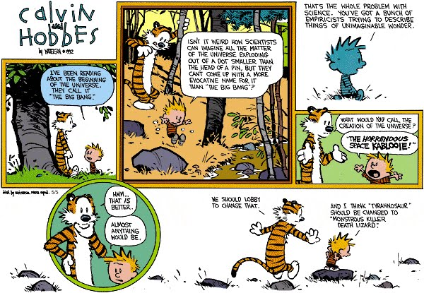 Calvin And Hobbes The Noodle Incident Horrendous Space Kablooie