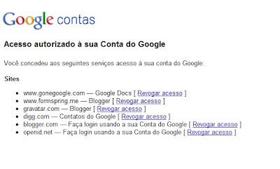 Veja os sites que tem acesso a sua conta Google