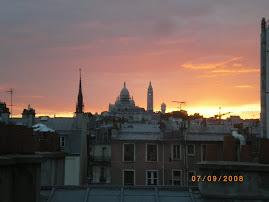 Un soir vue sur les toits de Paris