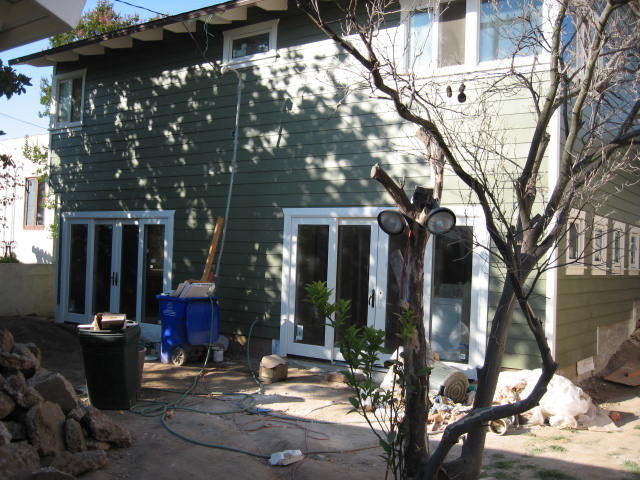 Back of house- after