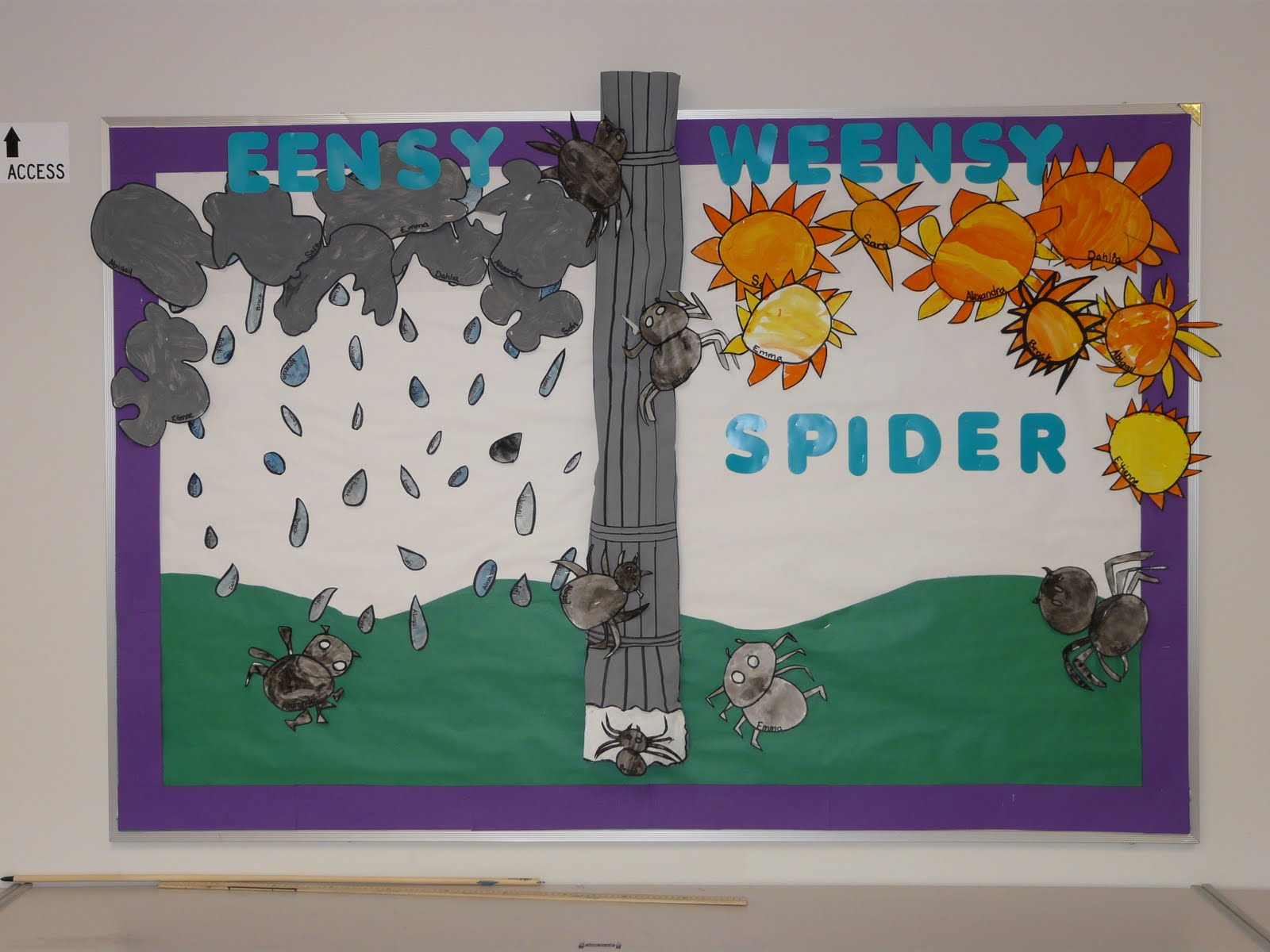 Ants Bugs Spiders Oh My on Spring Bulletin Boards With Bees