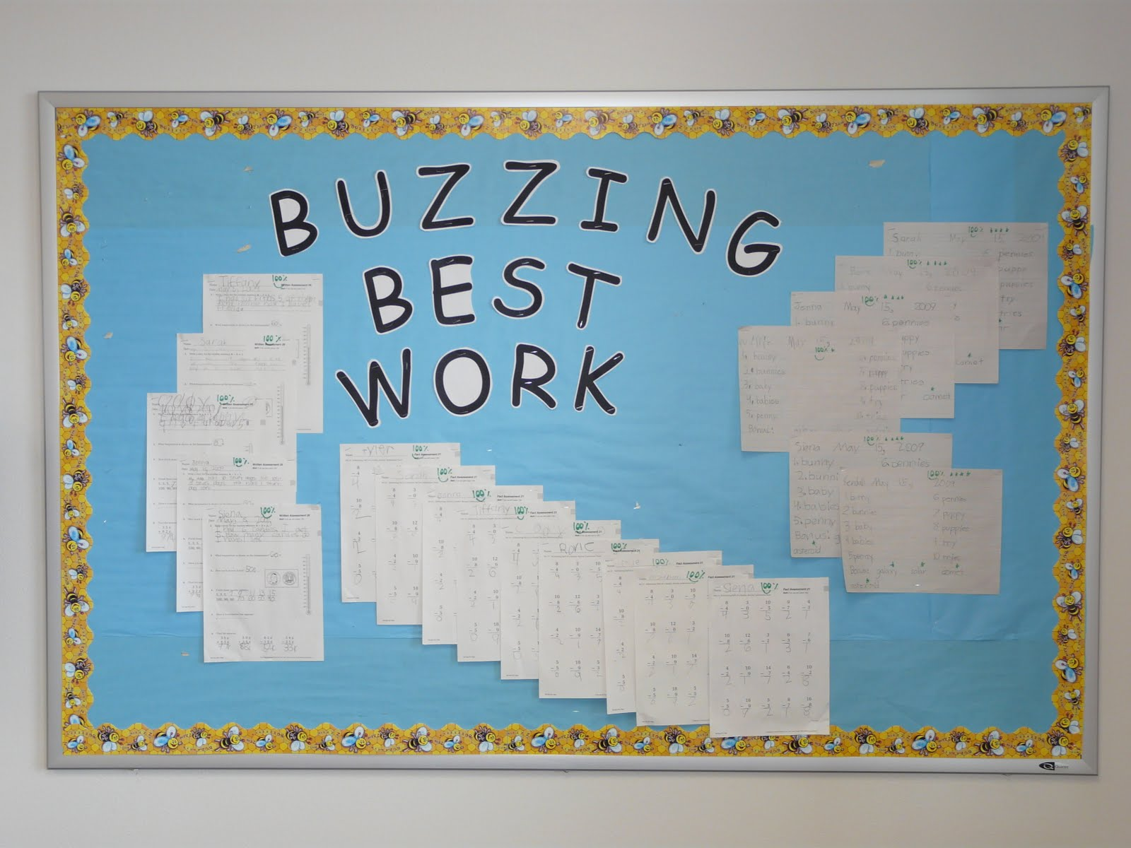 Kindergarten on Spring Bulletin Boards With Bees