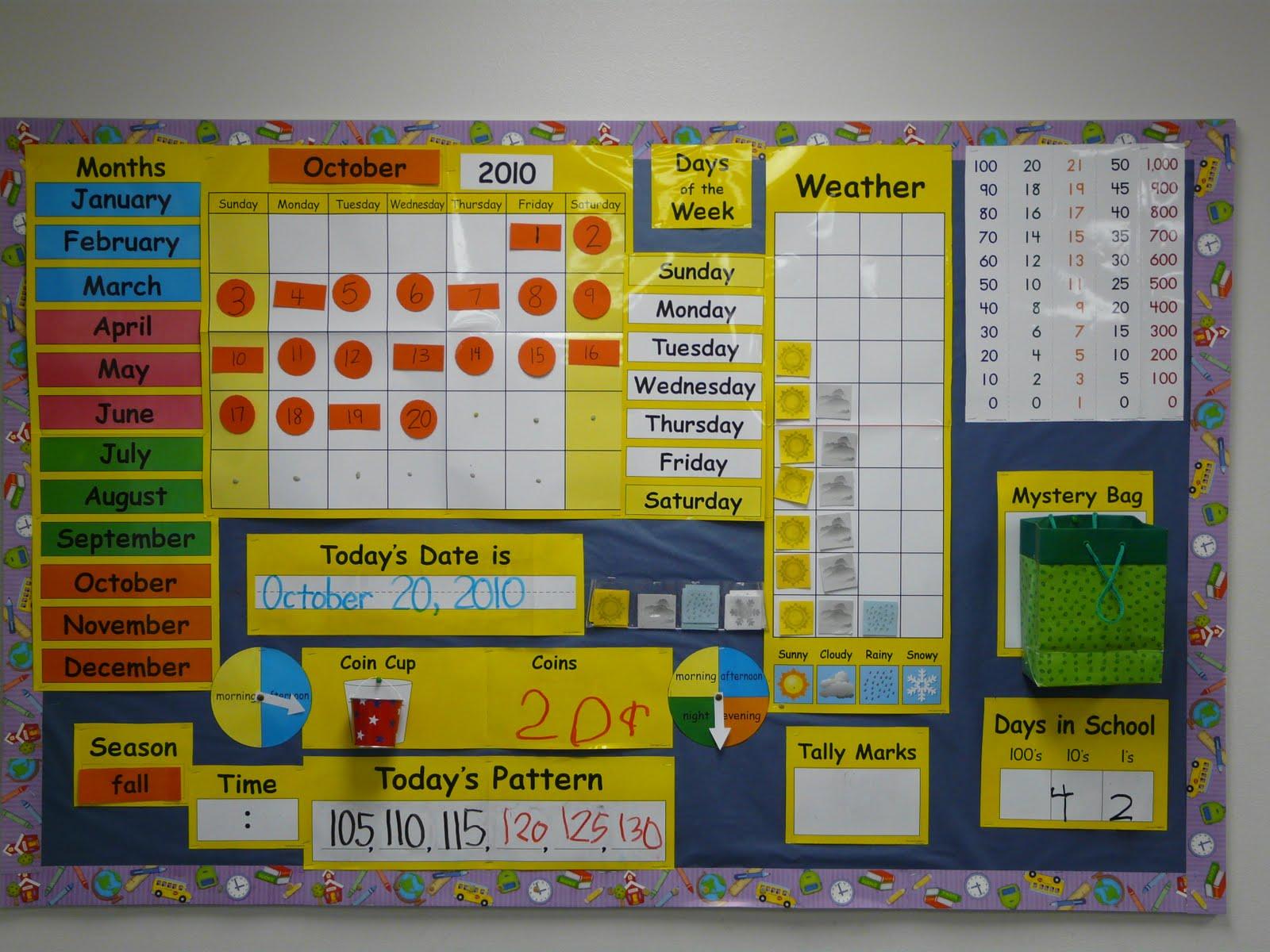 Calendar Math Ideas For Kindergarten : Bulletin board ideas fall