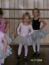 Griffin in ballet class
