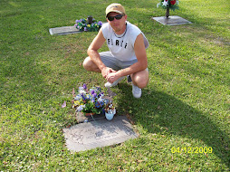 Ryan at the gravesite