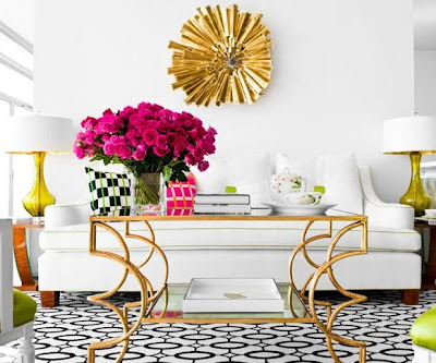 White Sofas + Colorful Accessories