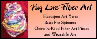 Pug Love Fiber Art etsy shop now open!