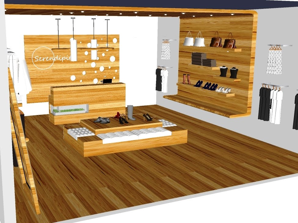 Creative colab retail store concept serendipity by heidi mendoza - Small retail space collection ...