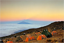 THE CLOUDS OF KILIMANJARO The Karanga Camp, at 13,200 feet, in the shadow of the summit