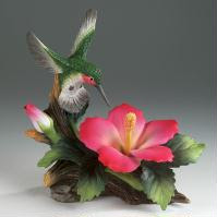 Humingbird with Hibiscus