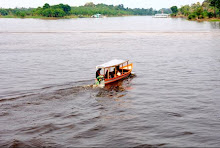 Local boat traffic on the Rio Negro river Brasil