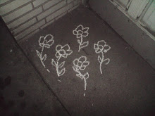 Flowers chalk drawing