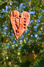Ceramic Love heart in tree