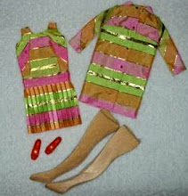 Vintage metallic stripe Barbie clothes