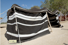 B&W striped tent