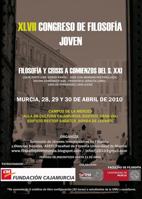 XLVII Congreso de Filosofía Joven (Carlos Fernández Liria, Antoni Doménech y Francisco Jarauta, entre otros) UNIVERSIDAD+DE+MURCIA+OK