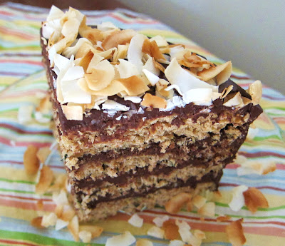 ... Coconut Zucchini Layer Cake with Fudge Icing by Fragrant Vanilla Cake