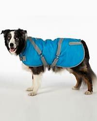 Canine Styles reflective horse-blanket coat
