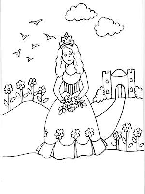 Dibujos de princesitas 2 圖片, 上色: Dibujo de una princesita llendo ...