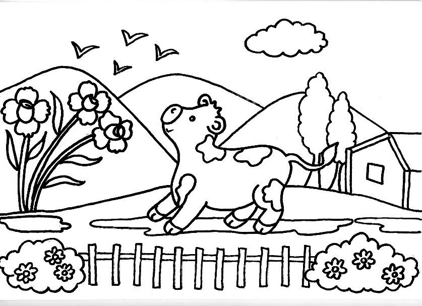 Increíble Vaca Para Colorear Imprimible Ornamento - Dibujos Para ...