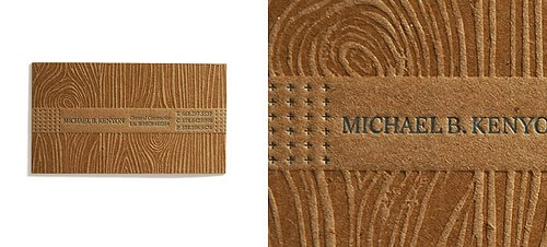 Creative business cards spicytec a really cool textured wood grain look business card for michael b kenyon reheart Gallery
