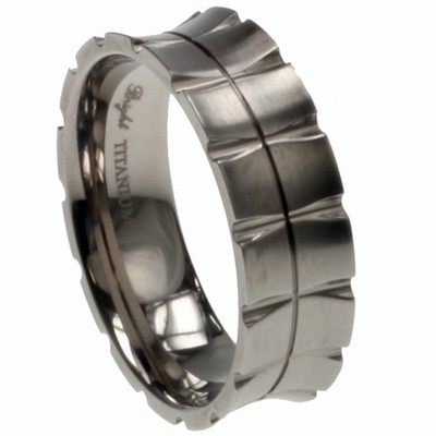 316L Grade Stainless Steel Gecko Men 39s Wedding Band matte polish and laser