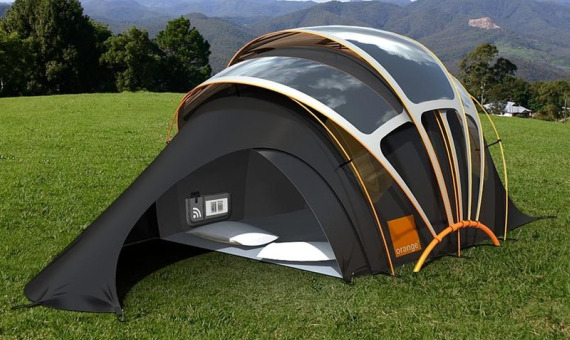 Nothing Else to Do. & Solar Concept Tent Provides All the Comforts of Work | Spicytec