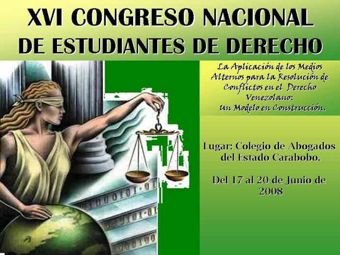 XVI CONGRESO NACIONAL DE ESTUDIANTES DE DERECHO UC 2008