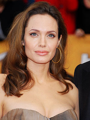 Angelina Jolie Bangs Salt. Angelina Jolie Medium Layered