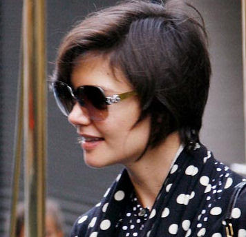 Katie Holmes 2010 Short Hairstyle Trends