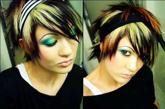 short emo hairstyles for girls 2011. hairstyle for girls with short