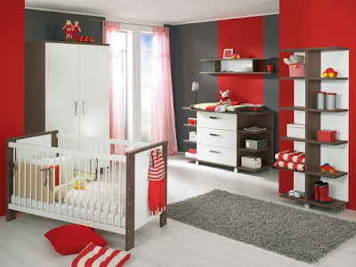 White and Wood Baby Nursery Furniture Sets 1