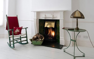London House With a French Style Fireplace Design