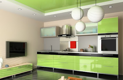 Green Kitchen Design 5
