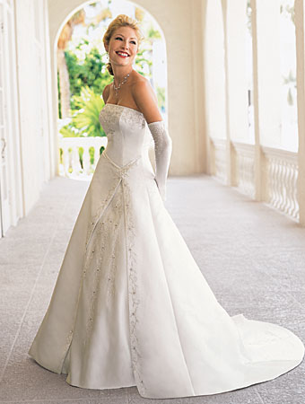 Today wedding dresses are all different noone wants to look the same as